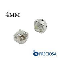 Шатоны (стразы) PRECIOSA пришивные хрустальные, размер ss-16 (4 мм), цвет Crystal /silver, 10 штук/упаковка, Чехия 062436 - 99 бусин