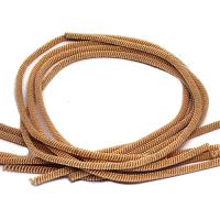 ОПТ Французская проволока (канитель) витая спираль 4 мм, цвет светлое розовое золото, пр-во Индия, 50 граммов (разные отрезки, общая длина около 220-240 см.) 062446 - 99 бусин