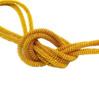 Сток! Французская проволока (канитель) витая спираль 3,5 мм, цвет золото, пр-во Индия, упаковка 5 граммов (разные отрезки, общая длина около 40 см.) Есть участки с непрокрасом 062447 - 99 бусин