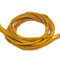 Сток 50 граммов! Французская проволока (канитель) витая спираль 3,5 мм, цвет жёлтое золото, пр-во Индия, упаковка 50 граммов (разные отрезки) Есть участки с непрокрасом 062448 - 99 бусин