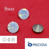 Шатоны PRECIOSA MAXIMA ss39 (8мм) White Opal без оправы 1 штука, Чехия 062457 - 99 бусин