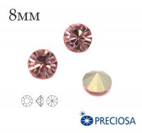 Шатоны PRECIOSA MAXIMA ss39 (8мм) Light Rose без оправы 1 штука, Чехия 062459 - 99 бусин