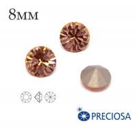 Шатоны PRECIOSA MAXIMA ss39 (8мм) Light Peach без оправы 1 штука, Чехия 062460 - 99 бусин
