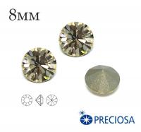 Шатоны PRECIOSA MAXIMA ss39 (8мм) Light Gold Quartz без оправы 1 штука, Чехия 062461 - 99 бусин