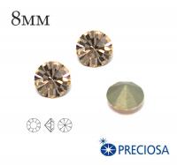 Шатоны PRECIOSA MAXIMA ss39 (8мм) Gold Quartz без оправы 1 штука, Чехия 062462 - 99 бусин