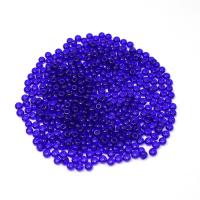 Бисер Чехия PRECIOSA прозрачный тёмно-синий 30100, 8 размер 10 граммов 062474 - 99 бусин