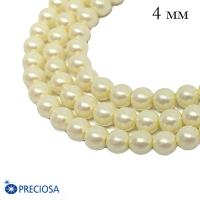 Жемчуг хрустальный Preciosa Maxima 4 мм Pearlescent Cream 10 штук Чехия 062475 - 99 бусин