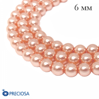 Жемчуг хрустальный Preciosa Maxima 6 мм Peach 10 штук Чехия 062481 - 99 бусин