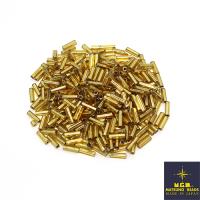 Стеклярус Matsuno 6 мм граненый, цвет 62 золотистый огонёк, Япония 10 граммов 062492 - 99 бусин