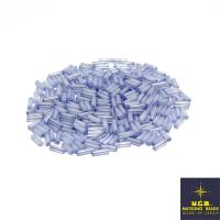 Стеклярус 6 мм гладкий Matsuno цвет 338 нежно-голубой глянец, Япония 10 граммов 062499 - 99 бусин