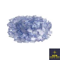 Стеклярус 6 мм гладкий Matsuno, цвет 542 голубой радужный прозрачный, Япония 10 граммов 062500 - 99 бусин