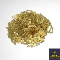 Стеклярус 9 мм витой Matsuno, спираль, цвет 42R серебристый, Япония 10 граммов 062516 - 99 бусин