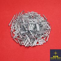 Стеклярус 9 мм витой Matsuno 33R SP спираль, цвет золотистый, Япония 10 граммов 062517 - 99 бусин