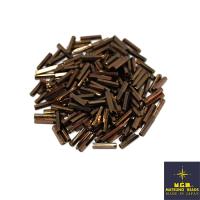 Стеклярус 9 мм Matsuno граненый 711 цвет тёмный шоколад металлик, Япония 10 граммов 062519 - 99 бусин