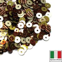 Микс пайеток БЕЛЛАДЖО плоские 3 мм 8171, L4, 4 мм G10, 2011, 806W Италия 062530 - 99 бусин