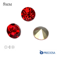 Шатоны PRECIOSA MAXIMA ss39 (8мм) цвет Light Siam, без оправы 1 штука, Чехия 062562 - 99 бусин