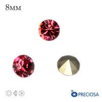 Шатоны PRECIOSA MAXIMA ss39 (8мм) цвет Indian Pink, без оправы 1 штука, Чехия 062563 - 99 бусин