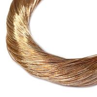 Нить металлизированная для золотного шитья, тонкая, цвет розоватое светлое золото, пасмочка около 15-18 граммов/100 метров Индия 062578 - 99 бусин