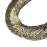 Нить металлизированная для золотного шитья, тонкая, цвет русое золото, пасмочка около 15-18 граммов/100 метров Индия 062580 - 99 бусин