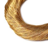 Нить металлизированная для золотного шитья, тонкая, цвет солнечное золото, пасмочка около 15-18 граммов/100 метров Индия 062581 - 99 бусин