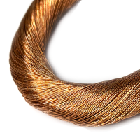 Нить металлизированная для золотного шитья, тонкая, цвет медное золото, пасмочка около 15-18 граммов/100 метров Индия 062583 - 99 бусин