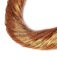 Нить металлизированная для золотного шитья, тонкая, цвет красное золото, пасмочка около 15-18 граммов/100 метров Индия 062584 - 99 бусин