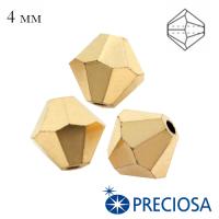 Биконусы хрустальные Preciosa 4 мм Crystal Aurum Full 20 штук/упаковка 062617 - 99 бусин