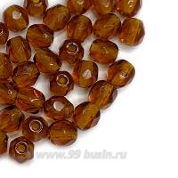 Бусины стеклянные граненые 4 мм Винтаж Чехия цвет осенняя листва 30 шт/упаковка 062697 - 99 бусин