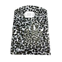 Пакет подарочный Леопард 17,5*13 см, цвет чёрный/светло-серый, отверстие овал, резной верх, материал полиэтилен, 10 штук/упаковка 062703 - 99 бусин