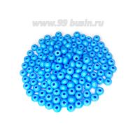 Бисер Чехия натуральный  непрозрачный, размер 6, арт. 63020, голубые  тона 10 грамм 062707 - 99 бусин
