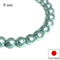 Хлопковый жемчуг 8 мм цвет Aqua/светло-бирюзовый 1 штука Япония 062740 - 99 бусин