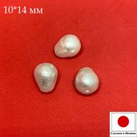 Хлопковый жемчуг, форма Капля, размер М 10*14 мм цвет White/белый 1 штука Япония 062776 - 99 бусин