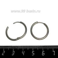 Швензы Кольца нержавеющая сталь 20 мм диаметр, 2 мм толщина, 1 пара 062783 - 99 бусин