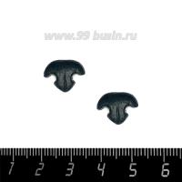 Декоративный элемент Нос Кошки, пришивной, из полимерной глины, цвет тёмно-серый, размер около 14-15*11-12 мм, ручная работа, 1 штука 062790 - 99 бусин