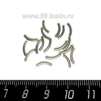 Трубочки металлические изогнутые гладкие 8*1,5 мм, цвет серебристый 20 шт/уп 062814 - 99 бусин