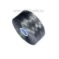 Нить Superlon (S-lon) D цвет Grey (серый), толщина 0,11 мм, катушка 71.3 метров 062821 - 99 бусин