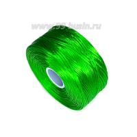Нить Superlon (S-lon) D цвет Green (насыщенный зелёный), толщина 0,11 мм, катушка 71.3 метров 062827 - 99 бусин