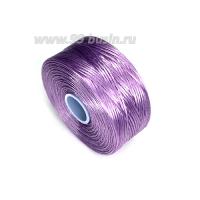 Нить Superlon (S-lon) D цвет Lavender (лавандовый), толщина 0,11 мм, катушка 71.3 метров 062831 - 99 бусин