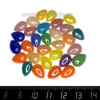 СТОК! Кабошон керамический Капля, Ассорти из разных цветов, размер от 11*8 до 13,5*9 мм, 30 штук/упаковка 062836 - 99 бусин