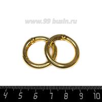 Замок-кольцо разъемное, диаметр 28 мм толщина 3,6 мм, цвет розоватое золото, 1 штука 062845 - 99 бусин