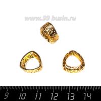 Оправа для страз ажурная для Триллианта 12 мм, цвет Розоватое золото 1 штука 062853 - 99 бусин
