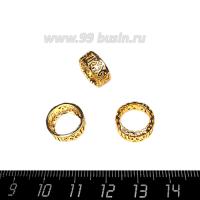 Оправа для страз ажурная для Риволи 12 мм, цвет Розоватое золото, 1 штука 062856 - 99 бусин