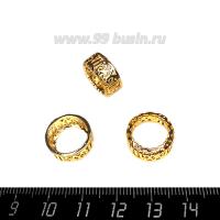 Оправа для страз ажурная для Риволи 14 мм, цвет Розоватое золото, 1 штука 062857 - 99 бусин