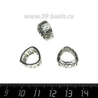 Оправа для страз ажурная для Триллианта 12 мм, цвет Никель, 1 штука 062859 - 99 бусин