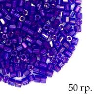 Рубка Чехия PRECIOSA гранёный, насыщенный фиолетовый, красное отверстие, размер 10 (ок.2 мм), арт. 34057, УПАКОВКА 50 грамм 062907 - 99 бусин