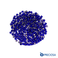 """Бисер цилиндрический, Чехия, прозрачный """"Огонек"""", размер около 3*2,5 мм, арт. 37100, синие тона, 10 гр. 062920 - 99 бусин"""
