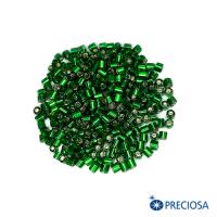 """Бисер цилиндрический, Чехия, прозрачный """"Огонек"""", размер около 3*2,5 мм, арт. 57060, зелёные тона, 10 гр. 062922 - 99 бусин"""
