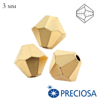 Биконусы хрустальные Preciosa 3 мм Crystal Aurum Full 20 штук/упаковка 062923 - 99 бусин