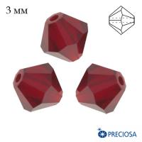 Биконусы хрустальные Preciosa 3 мм Siam 20 штук/упаковка 062925 - 99 бусин