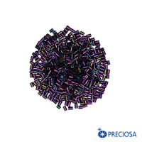 """Микростеклярус гладкий Чехия размер 1"""" (около 2,5*1,9 мм) арт. 59195 непрозрачный, цвет ирис фиолетовый хамелеон, 10 гр. 062936 - 99 бусин"""
